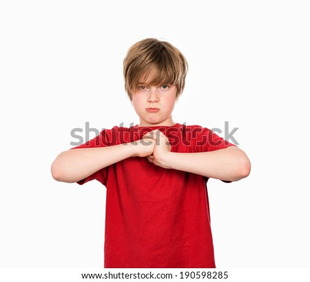 angry boy  - stock photo