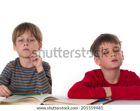 angry boys at the school,  - stock photo
