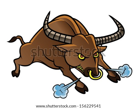 angry Bull - stock photo