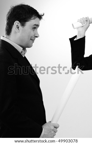 angry business people - stock photo