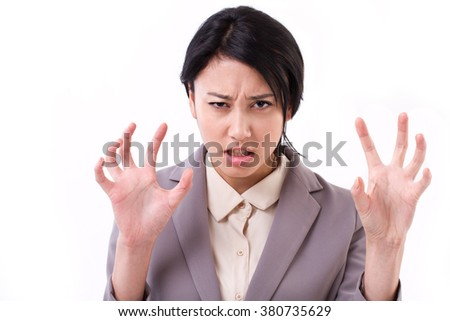 angry business woman - stock photo