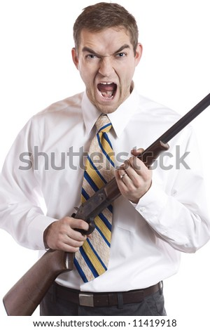 Angry businessman. - stock photo