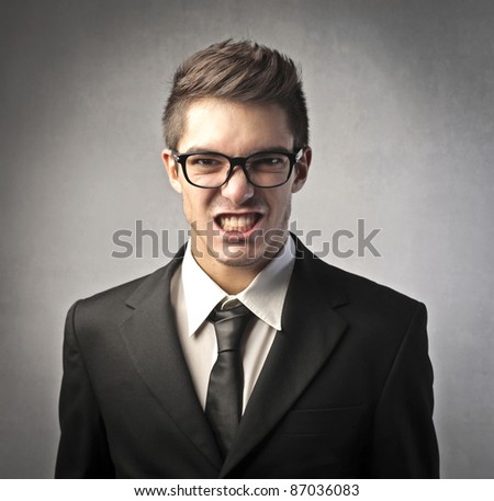 Angry businessman - stock photo