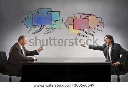 Angry businessmen arguing