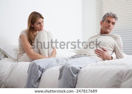 angry couple - stock photo