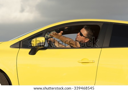 Angry Driver - stock photo