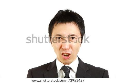 angry Japanese businessman - stock photo