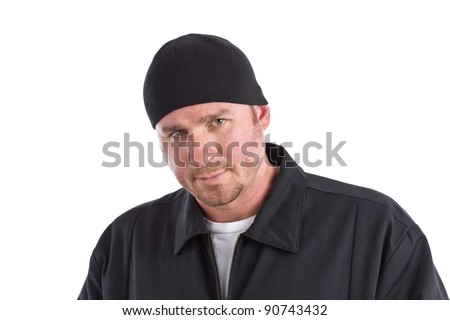 Angry Looking Man - stock photo