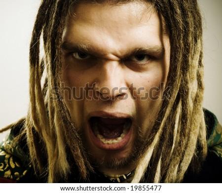 Angry man. - stock photo
