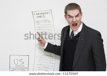 Angry manager. - stock photo