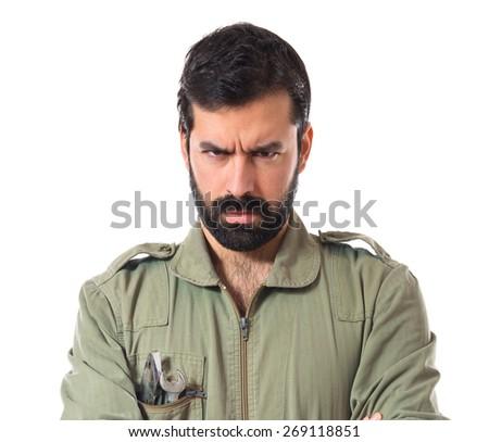 Angry mechanic - stock photo