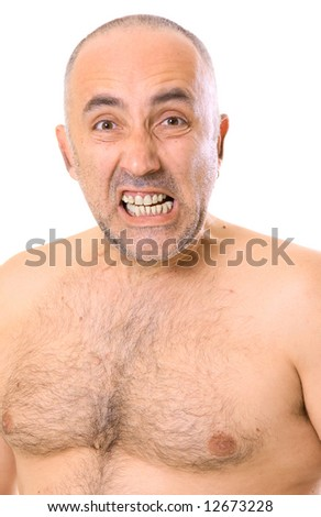 Nude middle aged man — 2