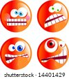 angry smilies - stock vector