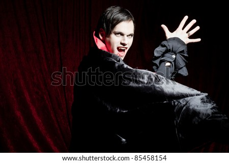 Angry vampire - stock photo