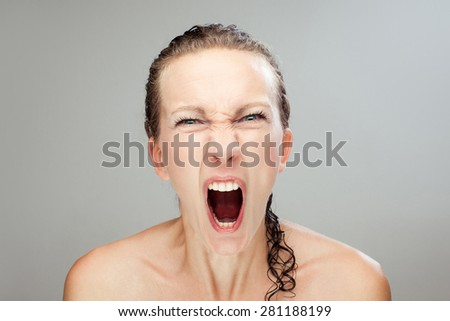 Angry woman - stock photo