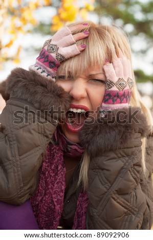 Angry woman - stock photo