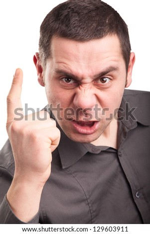 Angry young model - stock photo