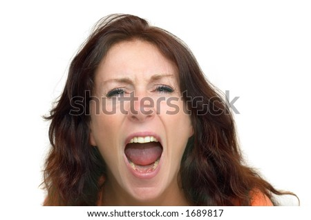 angry young woman - stock photo