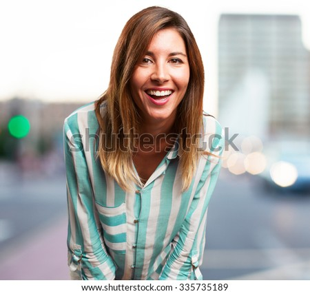 angry young woman laughing
