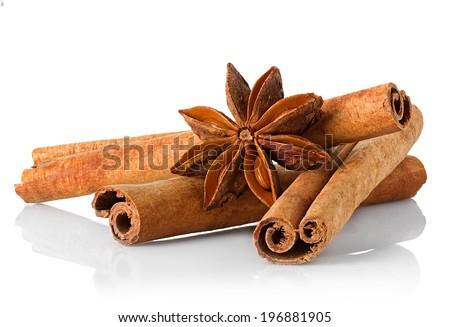 anice and cinnamon - stock photo