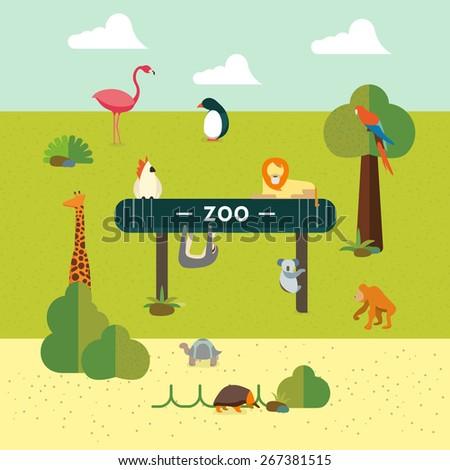 Animal and Zoo - stock photo