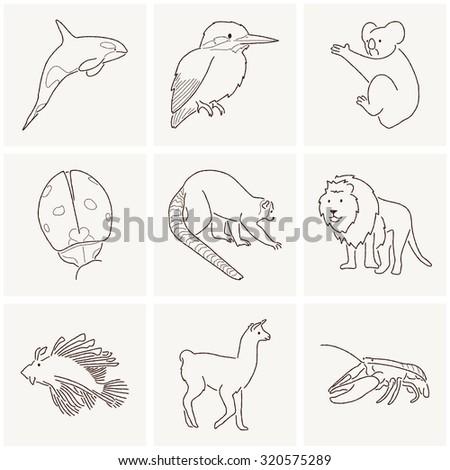 Animal Cartoon Art - stock photo