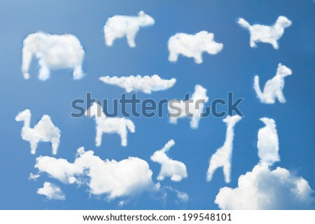 Animal clouds shape  - stock photo