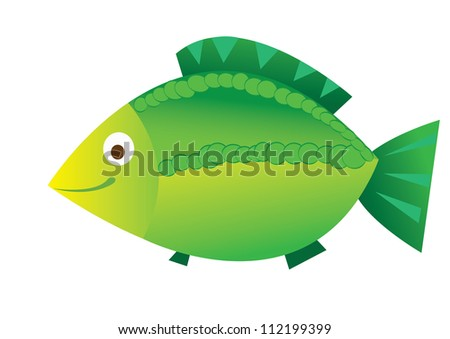 Animal cute carp - stock photo