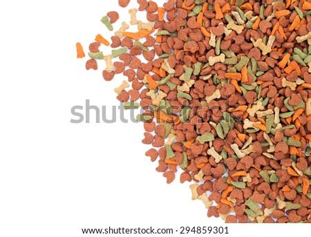Animal feed isolated on white background - stock photo