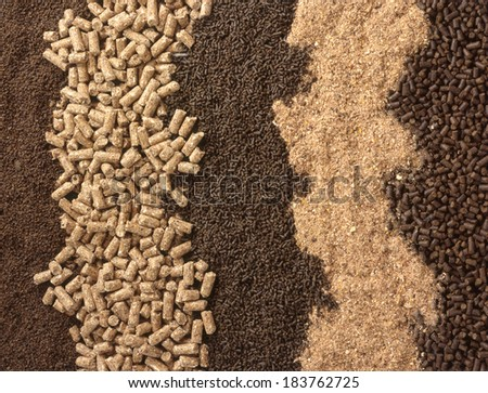 Animal food background - stock photo