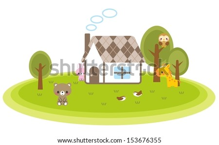 Animal forest - stock photo