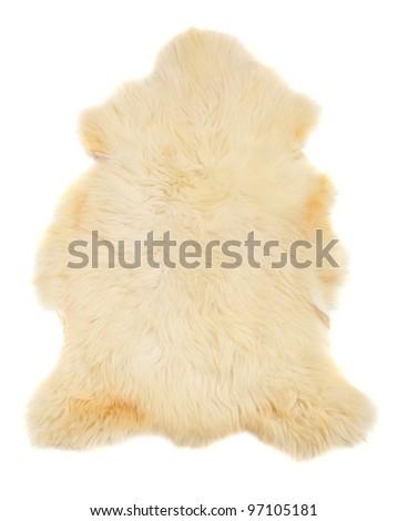 Animal fur on a white background. - stock photo