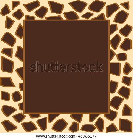 Animal giraffe print frame - stock photo
