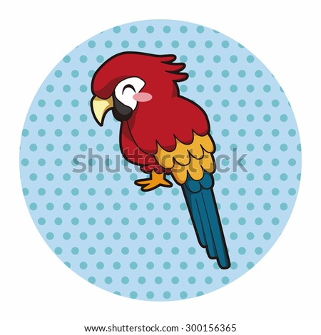 animal parrot cartoon theme elements - stock photo