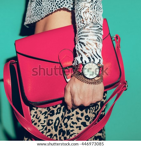 Animal print and Red Accessories. Passionate Summer Fashion style.