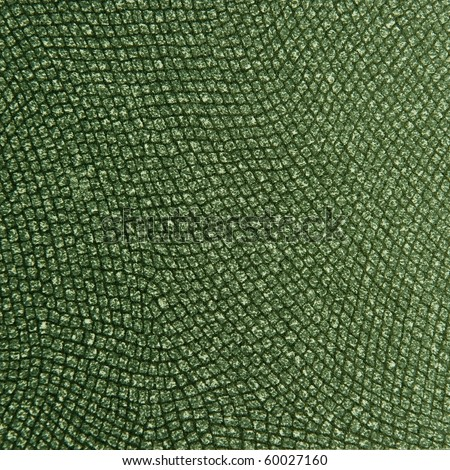 Animal Skin and Material Pattern green - stock photo