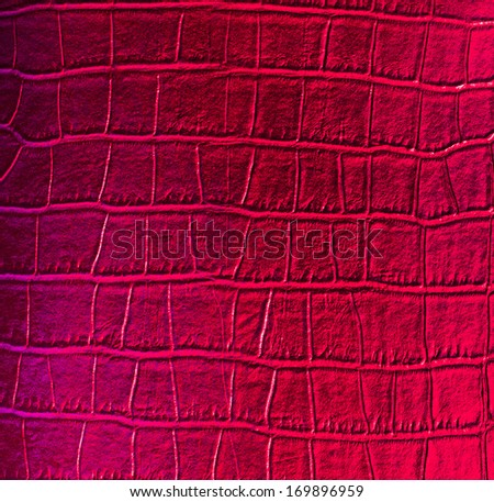 animal skin red textures leather crocodile background - stock photo