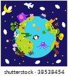 animal world - stock photo