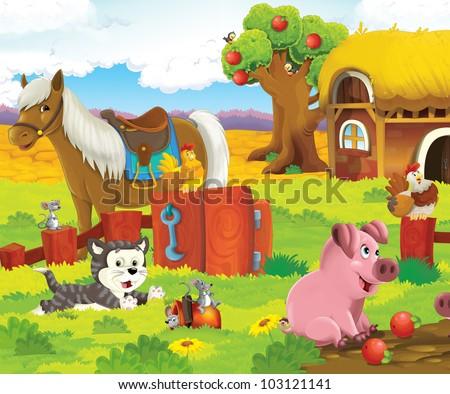 Animals at the farm 4 - stock photo