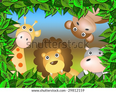 animals emerge from the vegetation