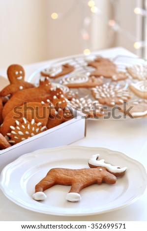 Animals Gingerbread cookie - stock photo