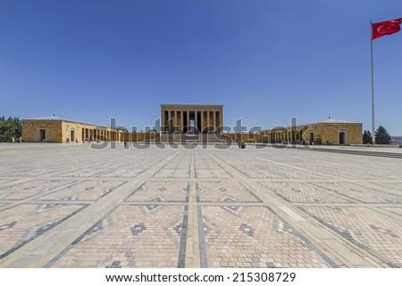 Anitkabir- Mausoleum of Ataturk in Ankara, Turkey. - stock photo