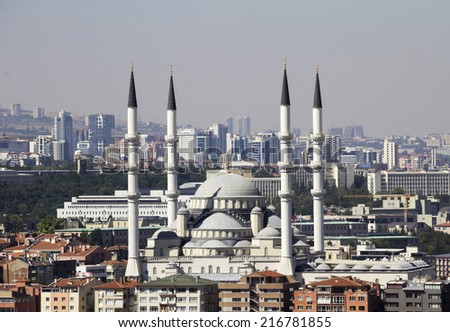 Ankara, Capital city of Turkey, Kocatepe Mosque - stock photo