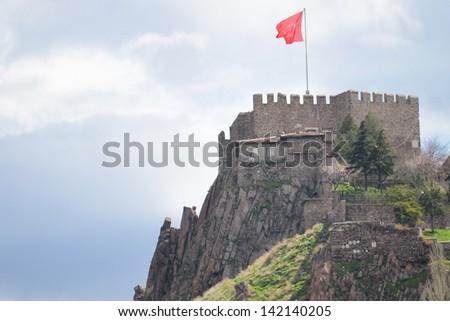 Ankara Castle, Ankara - Turkey - stock photo