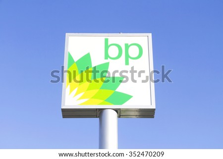 Ankara - Feb 4: british petrol on February 2,2015 in Turkey. British Petroleum is a British multinational oil and gas company headquartered in London, England.