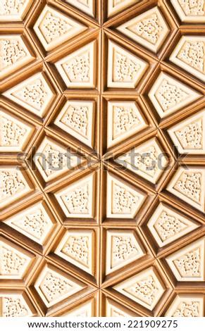 ANKARA - May 31: Ahmet Hamdi Akseki Mosque, traditional Turkish wooden ornament New and modern mosque of the capital city - May 31, 2014 in Ankara, Turkey - stock photo