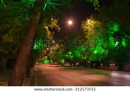 Ankara Turkey at night - architecture travel background - stock photo