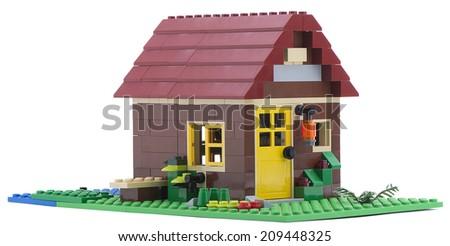 Ankara, Turkey - July 18, 2013: Lego Creator - House is a 3