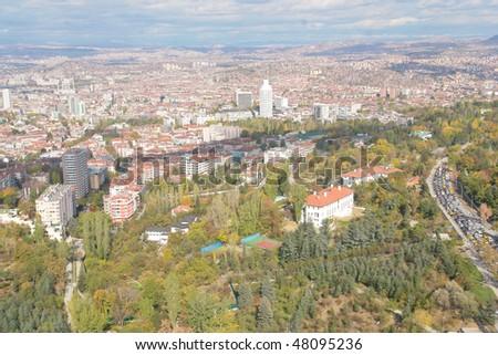 Ankara, Turkey - Panoramic view - stock photo