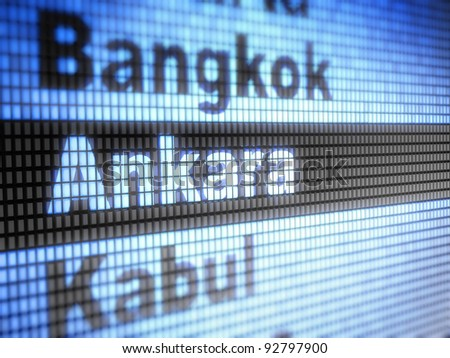 Ankara. World capitals Full collection of icons like that is in my portfolio - stock photo